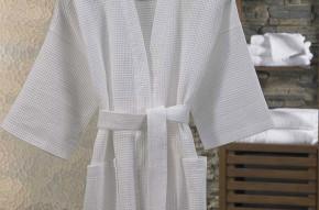 Piqué-Bademantel im Kimono-Stil